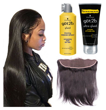How to Use Got2B Gel and Blasting Freeze Spray on Lace Wigs – CRISSY ...